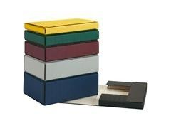 Caja proyecto con broches extra forrado lomo 3cm 32x24,5cm negro