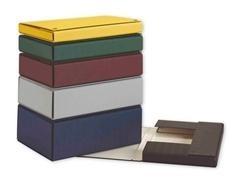 Caja proyecto con broches extra forrado lomo 20cm 32x24,5cm negro