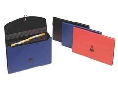 Clasificador acordeon 12 departamentos 320X250mm negro