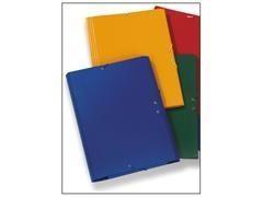 Carpeta gomas cartón gofrado con solapas folio azul