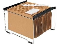 Bastidor metálico Carpetas colgantes capacidad 25 Carpetas negro