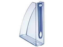 Revistero plástico allura 312x258x75mm azul cristal