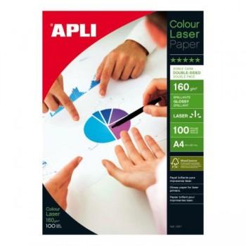 APLI Din A-4 glossy 160gr. 100 hojas laser doble cara