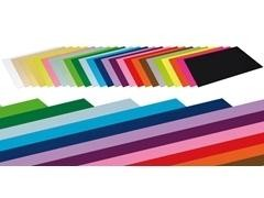 Pack 25h cartulina color fabrisa 180gr 50X65cm negro