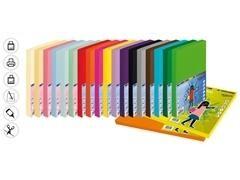 Pack 50h cartulina color fabrisa 170gr A4 rosa neon