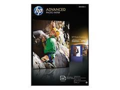 Caja 100 hojas de papel fotográfico satinado avanzado HP 10 x 15 cm sin bordes