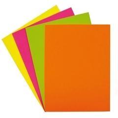 Paquete 100h papel color Fixo Paper A4 75gr naranja fluorescente