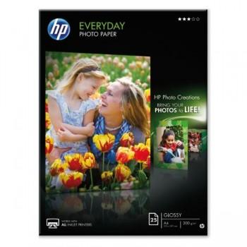 HP Papel inkjet fotografico semiglossy 200gr A4 25hojas
