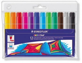 STAEDTLER Rotuladores de color noris club c-12 jumbo