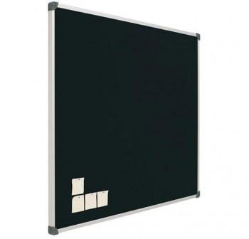 FAIBO Tablero corcho 90x120 tapizado NEGRO marco de aluminio