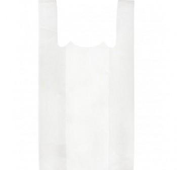 Paquete 100 blosas camiseta plástico 50x60 cm blanco