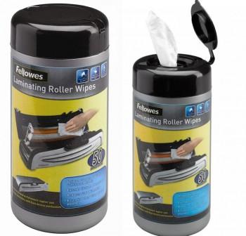 FELLOWES Pack 50 Toallitas Limpiadoras Rodillos para Plastificadora