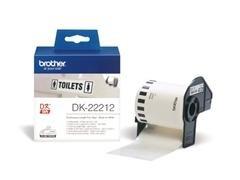 BROTHER Etiqueta QL 62mmx15,24m película plástica blanca