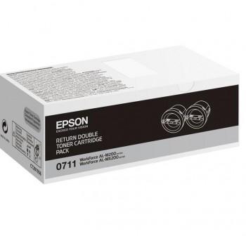 EPSON Toner laser C13S050711 original NEGRO pack de 2 retornable (2x2,5k)