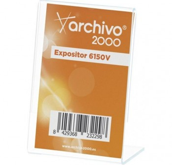 ARCHIVO2000 Expositor de sobremesa metacrilato en \cL \c vertical 1 caras 65x90mm 6150V