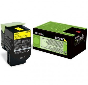 LEXMARK Toner laser 80C2HYE AMARILLO original 3k