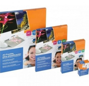DHP Laminas plastificar multitaladro  A4 216x303 125micr.(100 hojas)
