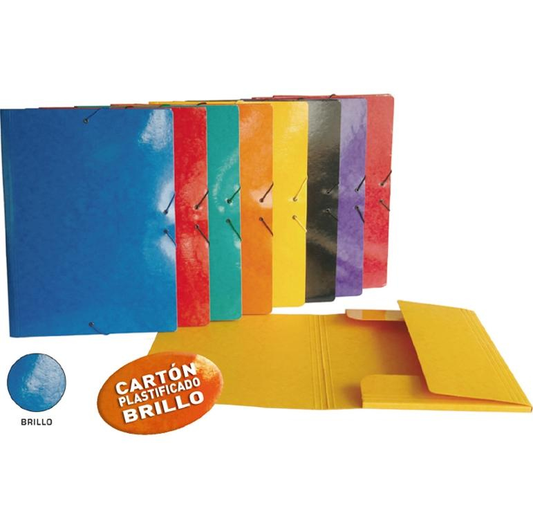 SENFORT Carpeta elast.+solapa carton DIN-A3 NARANJA