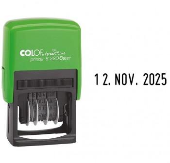 COLOP Sello fechador S-220 24x45 automatico