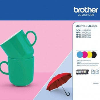BROTHER Pack de 4 cartucho inkjet LC225/227 colores original HC