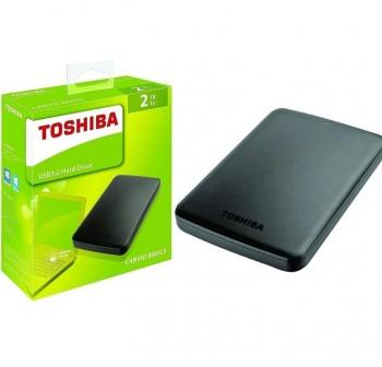 """TOSHIBA Disco Duro externo 2.5\"""" 2TB NEGRO USB 3.0"""