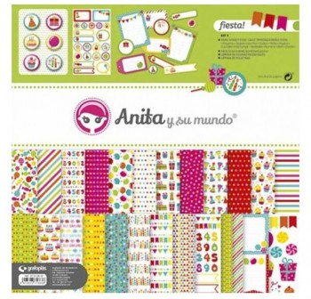 PACK 10 PAPEL SCRAP FIESTA SURTIDOS