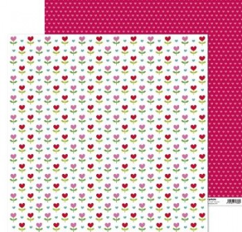 ANITA PAPEL SCRAP 30,48x30,48CM (12x12\c) CON AMOR (FLORES)