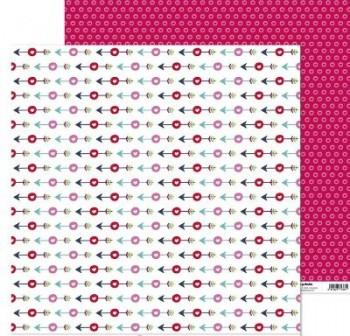 ANITA PAPEL SCRAP 30,48x30,48CM (12x12\c) CON AMOR (FLECHAS)