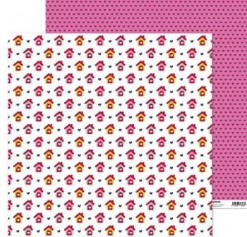 ANITA PAPEL SCRAP 30,48x30,48CM (12x12\c) CON AMOR (CASAS)