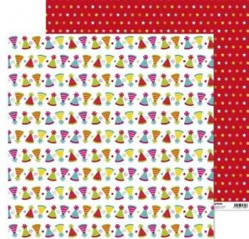 ANITA PAPEL SCRAP 30,48x30,48CM (12x12\c) FIESTA (GORRITO)