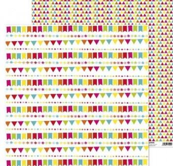 """ANITA PAPEL SCRAP 30,48x30,48CM (12x12\"""") FIESTA (BANDERITAS)"""