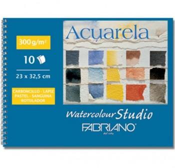 FABRIANO Block de dibujo scuola espiral DIN-A4 sin recuadro con taladro 160gr. 230x325 20 hojas