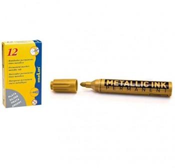 MOLIN Rotulador permanente tinta metalica DORADO pta.redonda 3mm