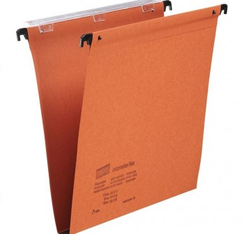 ESSELTE Carpeta colgante visor.suerior .folio prolongado kraft c-50