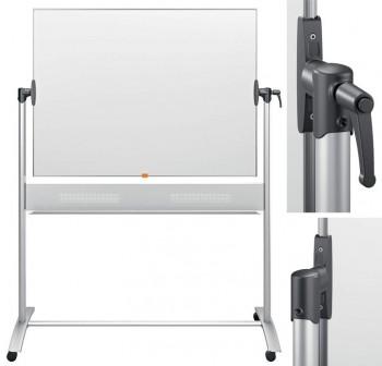NOBO Pizarra blanca movil horizontal marco aluminio 120x90cm acero vitrificado