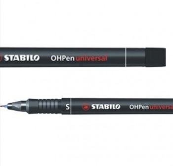 Marcador permanente punta cónica Stabilo Ohpen universal trazo 0,4mm negro
