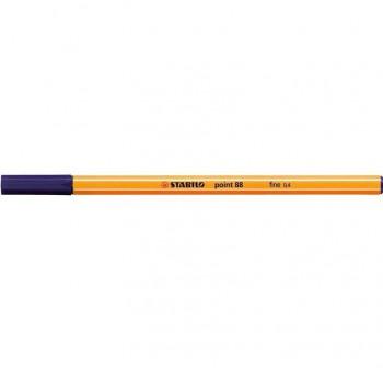 Rotulador punta fieltro fina Stabilo point 88 trazo 0,4mm azul ultramar