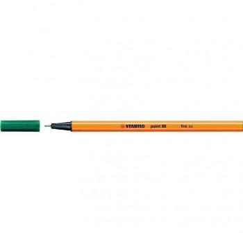 Rotulador punta fieltro fina Stabilo point 88 trazo 0,4mm verde