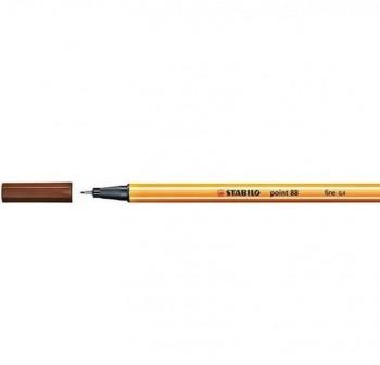 Rotulador punta fieltro fina Stabilo point 88 trazo 0,4mm marrón