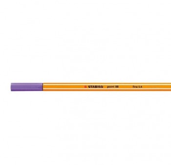 Rotulador punta fieltro fina Stabilo point 88 trazo 0,4mm violeta