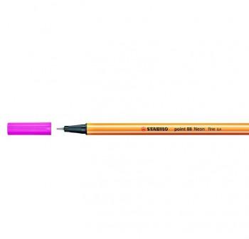 Rotulador punta fieltro fina Stabilo point 88 trazo 0,4mm rosa