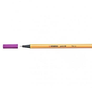 Rotulador punta fieltro fina Stabilo point 88 trazo 0,4mm granza rosa