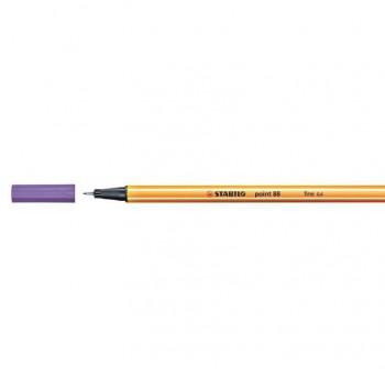 Rotulador punta fieltro fina Stabilo point 88 trazo 0,4mm lila claro