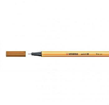 Rotulador punta fieltro fina Stabilo point 88 trazo 0,4mm ocre oscuro
