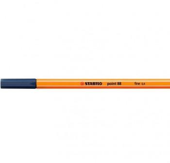 Rotulador punta fieltro fina Stabilo point 88 trazo 0,4mm gris azulado claro