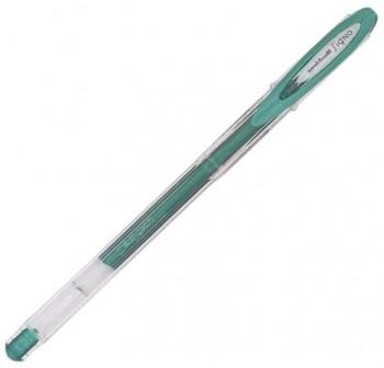 Bolígrafo Tinta gel Uni-ball metalic trazo 0,8mm verde