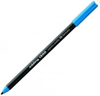 Rotulador punta fieltro media edding 1300 trazo 3Mm azul claro
