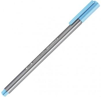 Rotulador punta fieltro fina triplus fineliner trazo 0,3Mm azul aqua
