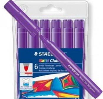 Caja 6 Rotuladores Staedtler noris club 340 jumbo violeta