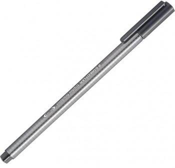 Rotulador punta fieltro fina triplus fineliner trazo 0,3Mm gris